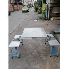 โต๊ะพับปิคนิคและเก้าอี้อลูมิเนียม